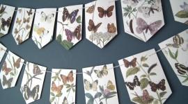 Butterfly Garland Wallpaper Download