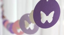 Butterfly Garland Wallpaper For Desktop