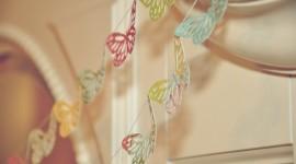 Butterfly Garland Wallpaper Full HD