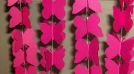 Butterfly Garland Wallpaper HQ