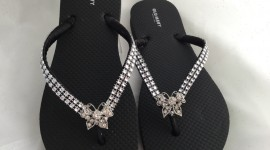 Butterfly Rhinestone Sandals Pics