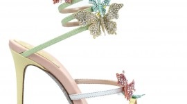 Butterfly Rhinestone Sandals For Mobile#1