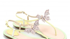 Butterfly Rhinestone Sandals For Mobile#2