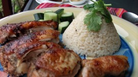 Chicken With Rice Wallpaper Free
