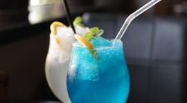 Cocktail Blue Hawaii Wallpaper Download Free