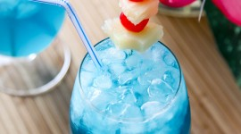 Cocktail Blue Hawaii Wallpaper For IPhone