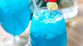 Cocktail Blue Hawaii Wallpaper For IPhone Download