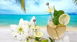 Cocktail With Lemon Desktop Wallpaper