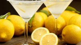 Cocktail With Lemon Desktop Wallpaper HD