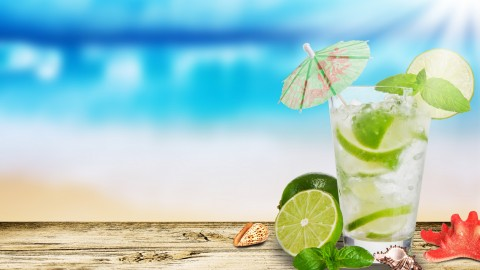 Cocktail With Lemon wallpapers high quality