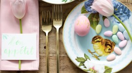 Easter Table Desktop Wallpaper For PC
