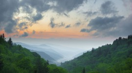 Fog In Smoky Mountains Wallpaper HQ