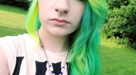 Green Hair High Quality Wallpaper