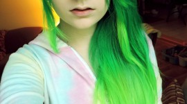 Green Hair Wallpaper Background