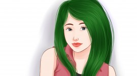 Green Hair Wallpaper For Desktop