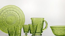 Green Tableware Desktop Wallpaper For PC