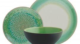 Green Tableware Desktop Wallpaper#1