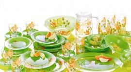 Green Tableware Wallpaper Download