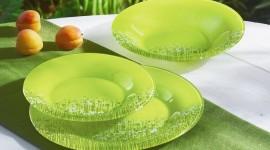 Green Tableware Wallpaper For IPhone#1