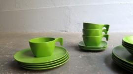 Green Tableware Wallpaper Gallery