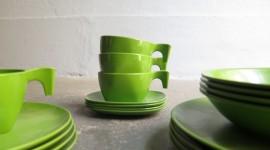 Green Tableware Wallpaper HQ