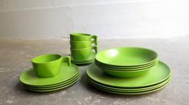 Green Tableware Wallpaper HQ#1