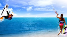 Kite Surfing Desktop Wallpaper For PC