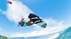 Kite Surfing Desktop Wallpaper HD