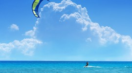 Kite Surfing Wallpaper Background