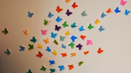 Paper Butterflies Wallpaper Gallery
