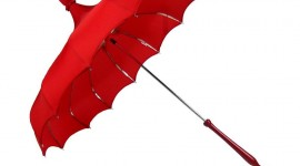 Red Umbrellas Wallpaper For IPhone Download