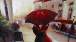 Red Umbrellas Wallpaper For IPhone Free