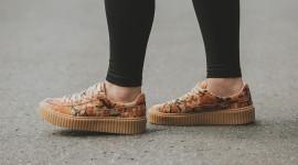 Sneakers On The Legs Best Wallpaper