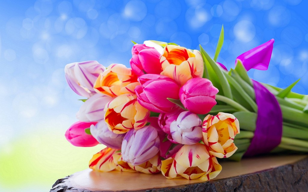 4K Bouquet Tulips wallpapers HD