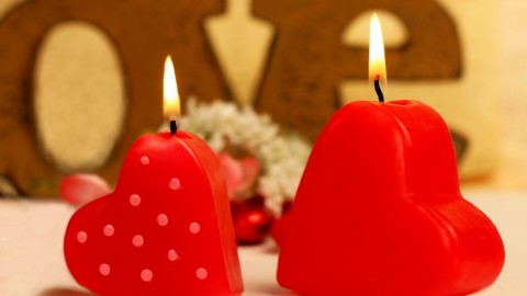Heart Shaped Candle wallpapers high quality
