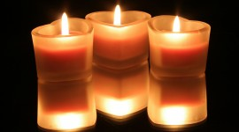 Heart Shaped Candle Photo
