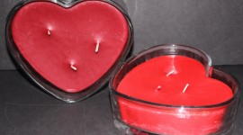 Heart Shaped Candle Photo Download#1