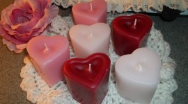 Heart Shaped Candle Photo Free