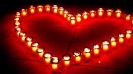 Heart Shaped Candle Photo Free#1
