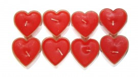 Heart Shaped Candle Photo#1