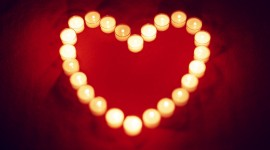 Heart Shaped Candle Wallpaper 1080p