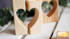 Heart Shaped Candle Wallpaper For Android