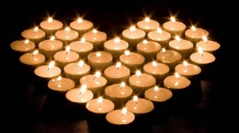Heart Shaped Candle Wallpaper For PC