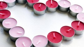 Heart Shaped Candle Wallpaper Free