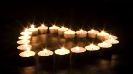 Heart Shaped Candle Wallpaper HQ