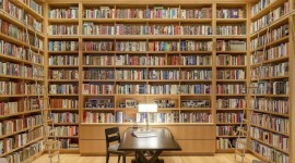 Home Library Wallpaper Download