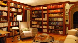 Home Library Wallpaper For PC