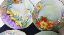 Painted Dishes Photo Free