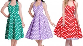 Polka Dot Dress Wallpaper