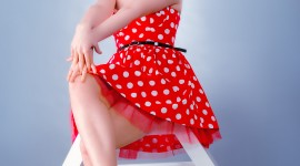 Polka Dot Dress Wallpaper For Mobile